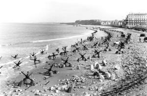 Beach obstacles at Pas de Calais, 18 April 1944