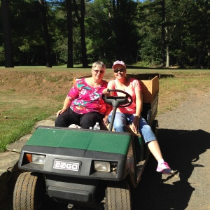 Lynn Morin & Debbie Rice working on the 8th Hole