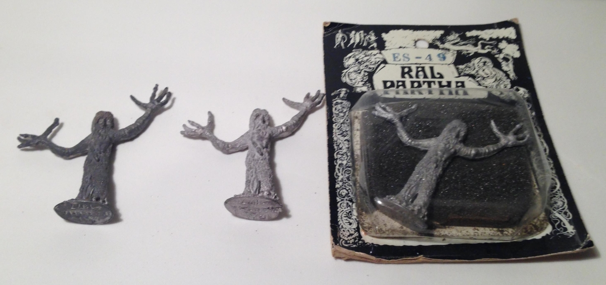 "Ral Partha ""Tree Shepherds"" (ES-49) and Mithril Miniatures ""Treebeard and the Hobbits"" (M185)"