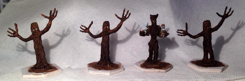 8 Tree shepherds and Treebeard base coated