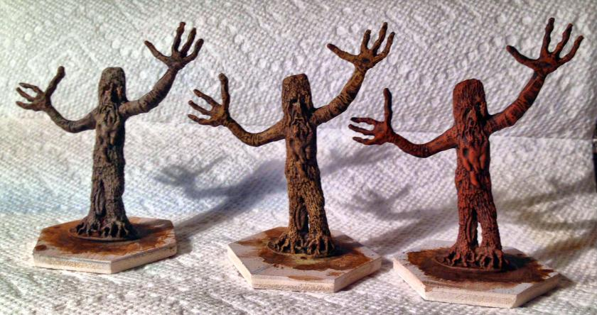 9 Tree shepherds washed and drybrushed