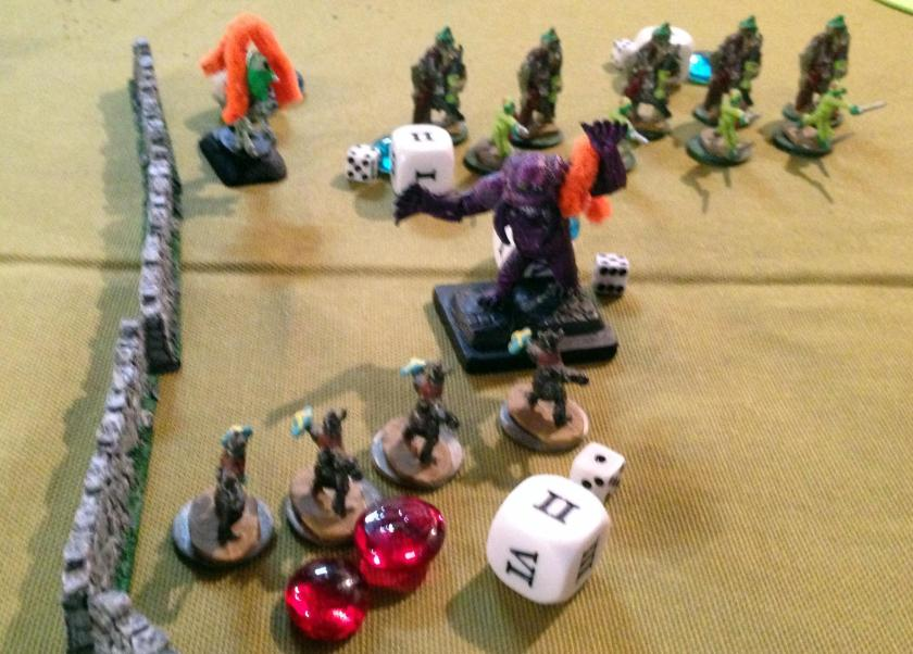 6 Swedish Dwarf Skirmishers drive back demon