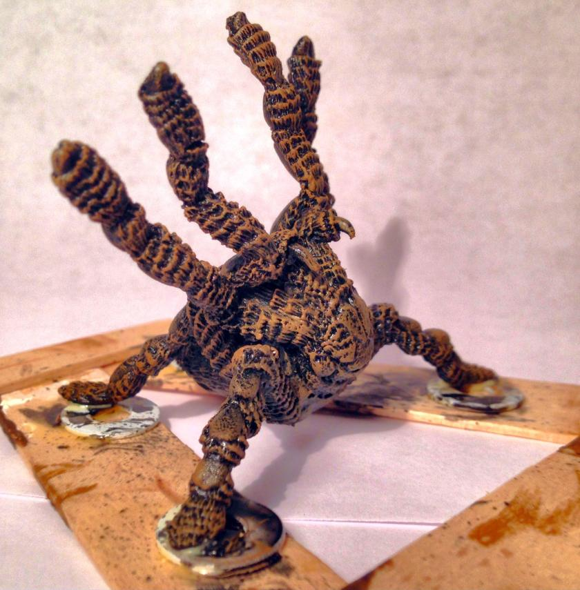 11 TSR Giant Ral Partha Spider (Steeder) 11-515 after dry brush