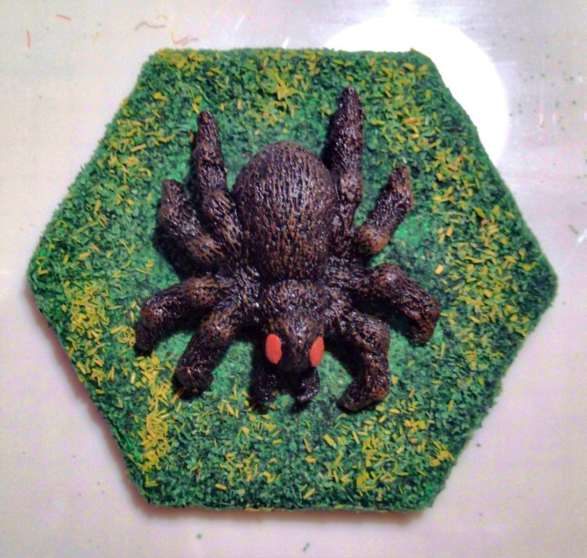 17 Grenadier 5004 Tomb of Spells Huge Spider top view ready for varnish
