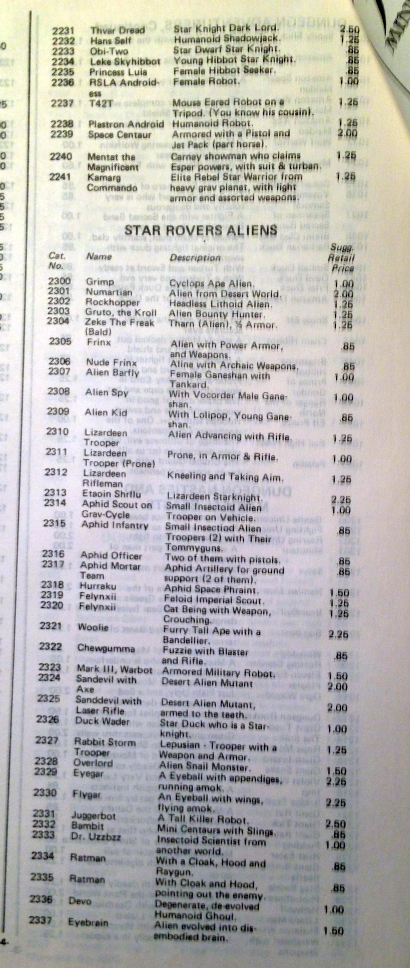 11 Archive 1981 catalogue SR 2