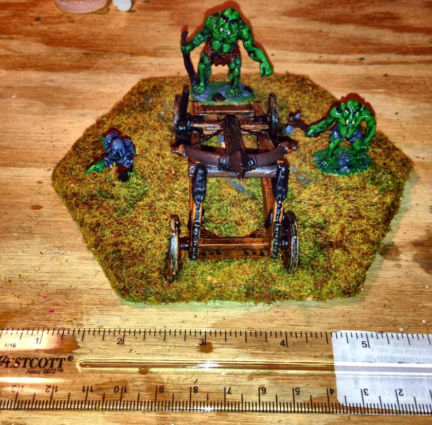 21 Troll Ballista painted base after routing first magnets