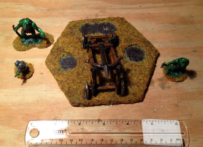 22 Troll Ballista painted base after routing first magnets crew removed