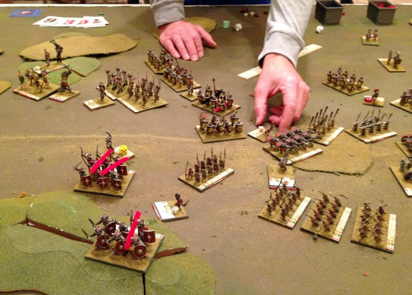 5 04282016 BYV Minotaurs repulsed by the Roman Legion and melee in middle