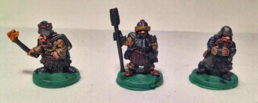 12 Ral Partha 02-161 Dwarf Bombard Crew front -collector series all things dark & dangerous -varnished before basing
