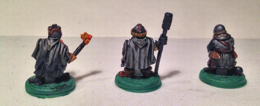 13 Ral Partha 02-161 Dwarf Bombard Crew back -collector series all things dark & dangerous -varnished before basing