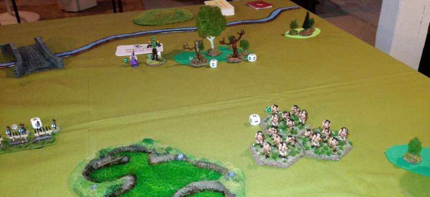 6 the defenders right flank from attackers view set up
