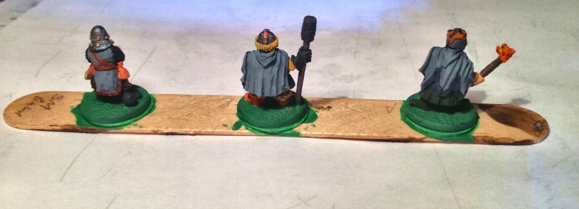 8 Ral Partha 02-161 Dwarf Bombard Crew back -collector series all things dark & dangerous -painted before wash