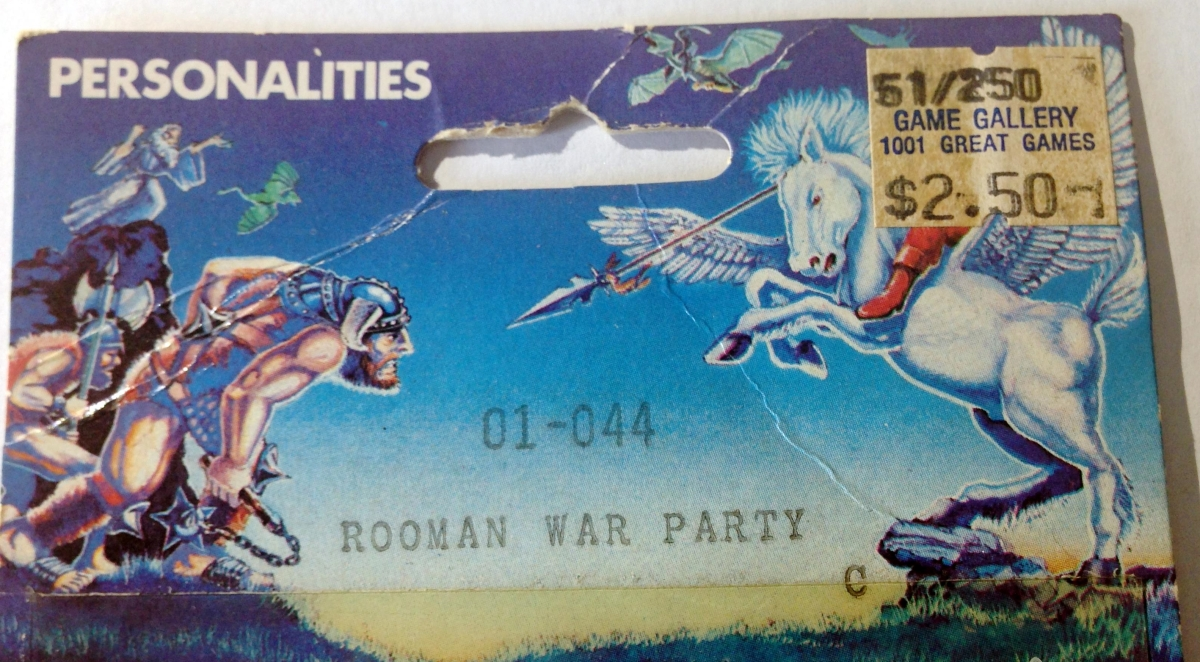 After 33 years, I finally have an ORIGINAL Ral Partha Rooman War Party Troop! (ES-44 or 01-044) from1977!!!