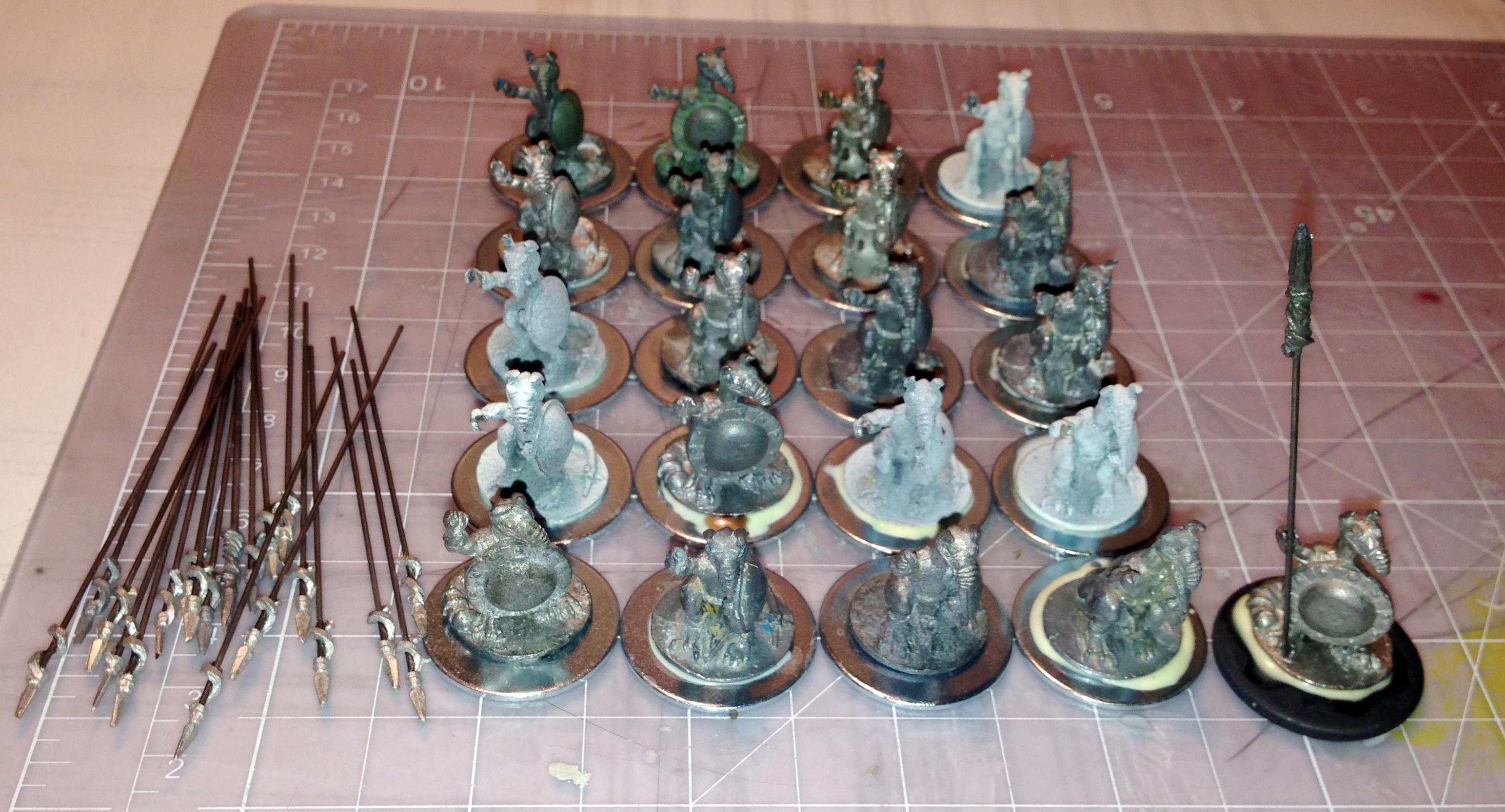 3a mounted on bases and pikes