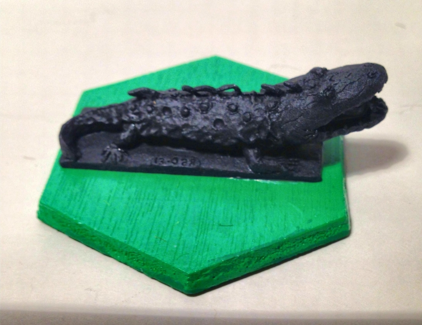5 Fire breathing Salamander  Ral Partha 13-028 1982 primed (1)