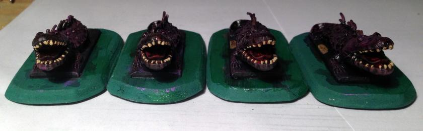 8 Fire breathing Salamander  Ral Partha 13-028 1982 after first highlighting