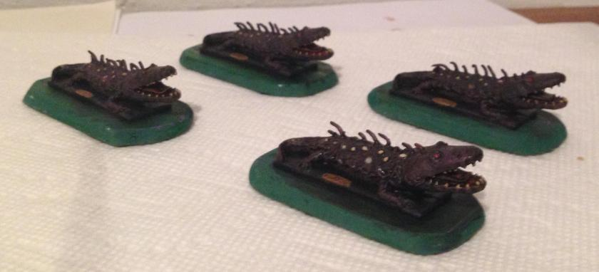 9 Fire breathing Salamander  Ral Partha 13-028 1982 paint complete