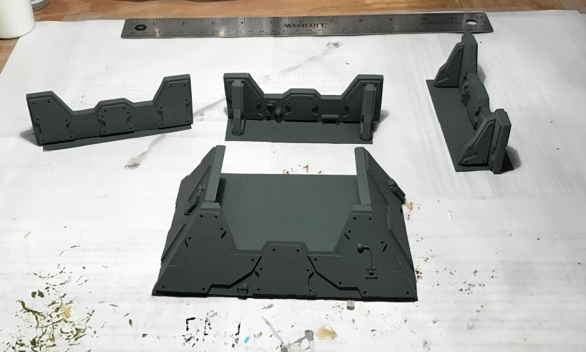 6 defensive pit and barriers primed