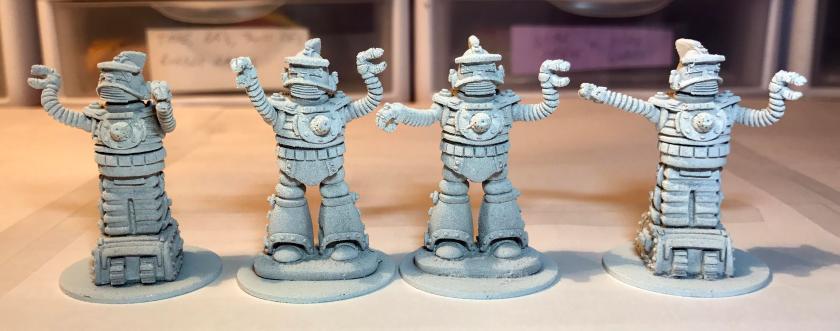 4 primed Khang robots
