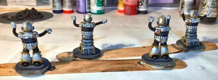 6 mid stage base coat on Khang robots back