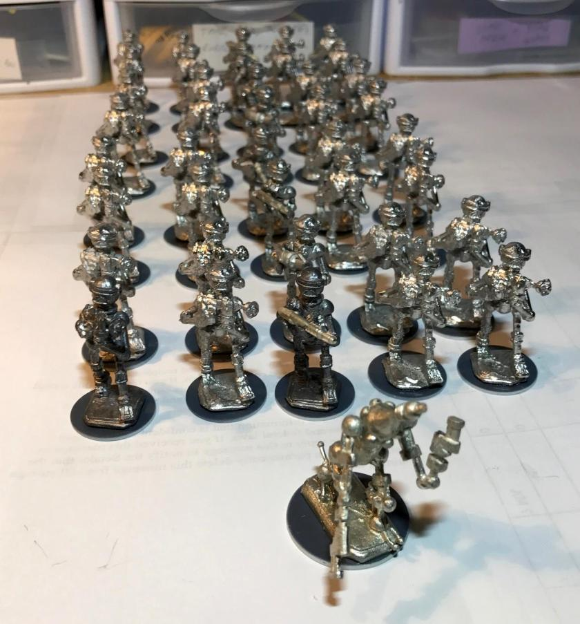 04 Assembled platoon on washers