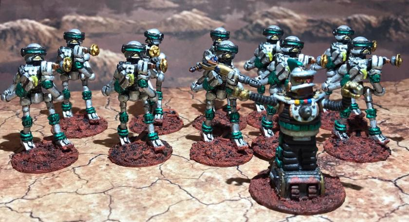 26 Green Squad Mark III Warbots with SL