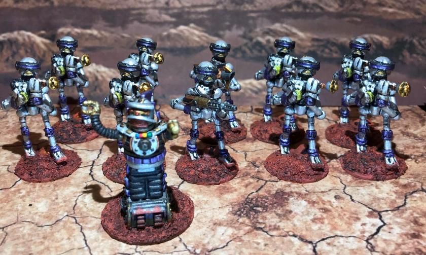 28 Purple squad Mark III Warbots with SL