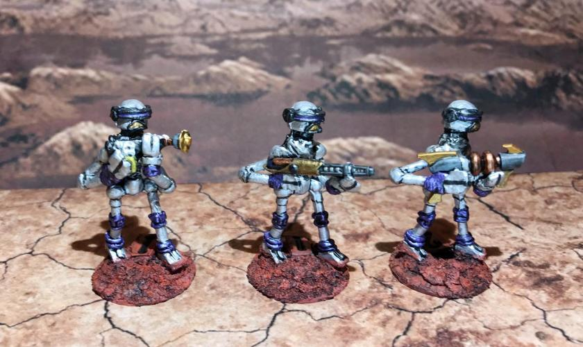 29 Purple Mark III Warbots with conversions