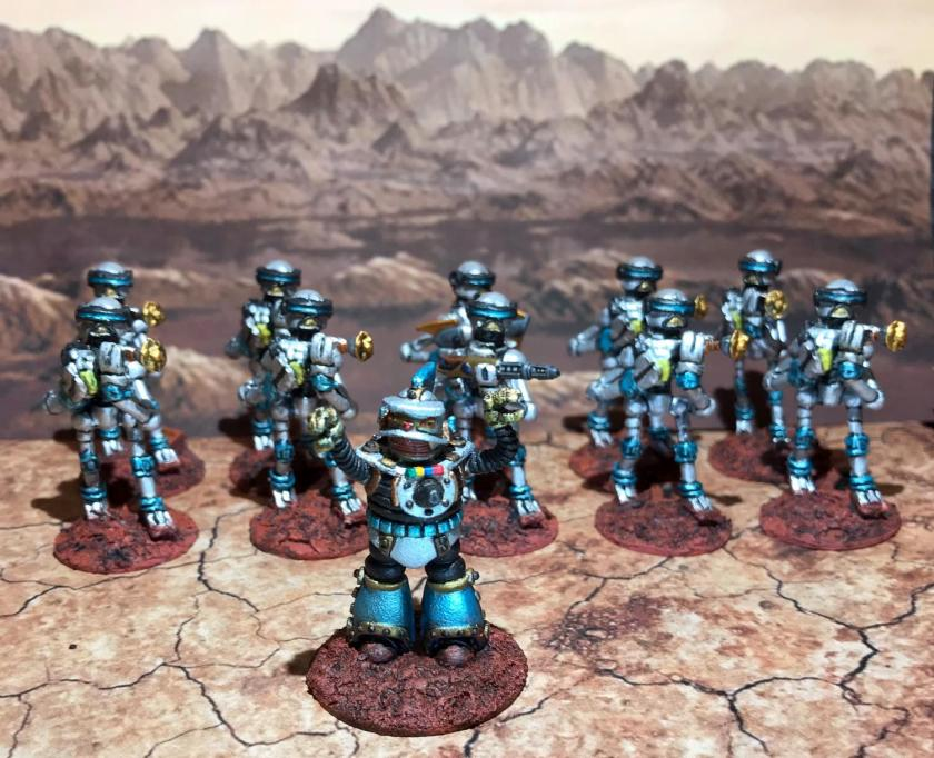 30 Blue Squad Mark III Warbots with SL