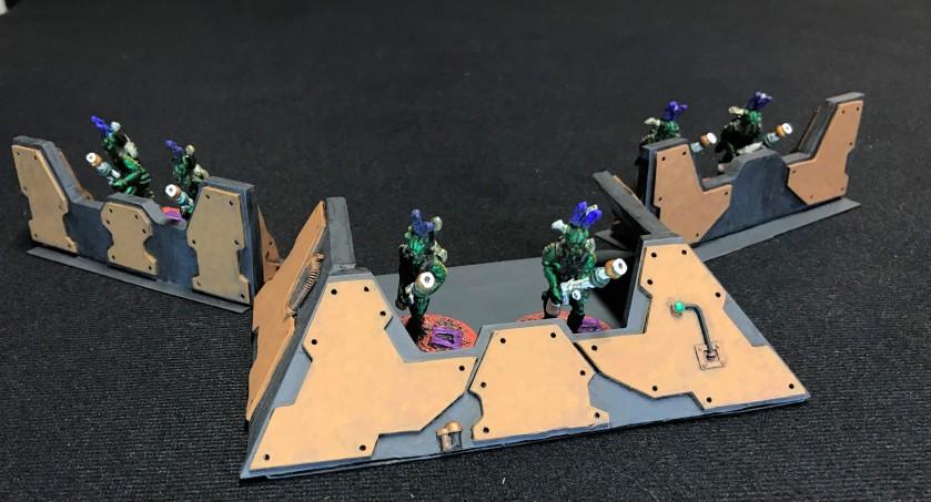 36 defending bunkers