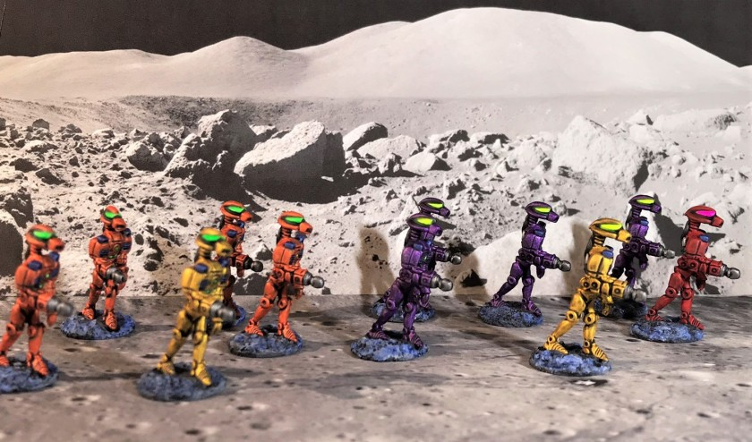 12 Advancing Robots Mega Minis DEAL 0372 in progress complete squad