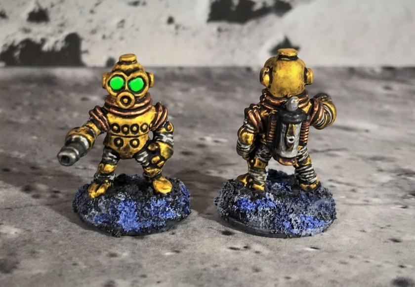 21 Space Dwarf Assault Squad Team Leaders