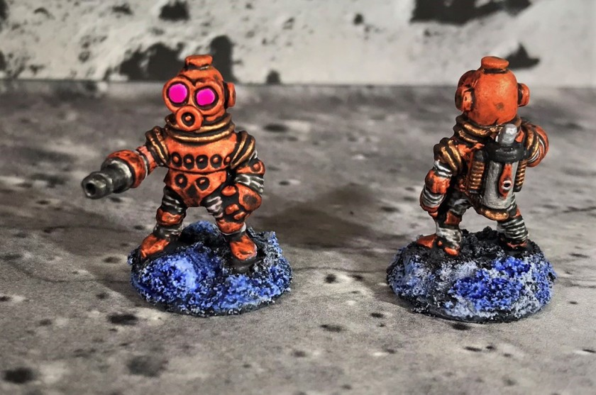 22 Space Dwarf Assault Squad Tangerine Troopers