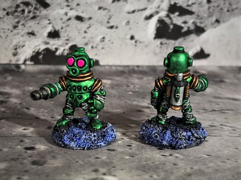 24 Space Dwarf Assault Squad Green Troopers