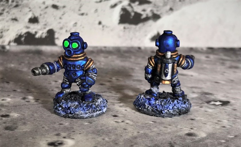 25 Space Dwarf Assault Squad Blue Troopers