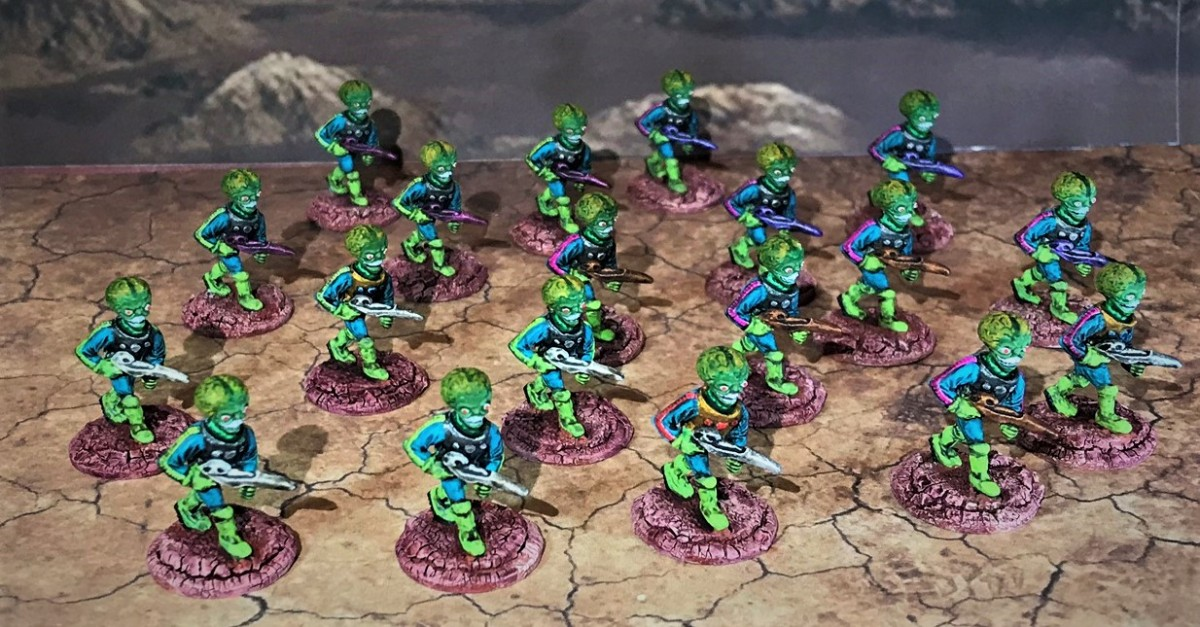 """Mars Aliens"" from Mega Miniatures, circa 2001, for Combat Patrol (TM)"