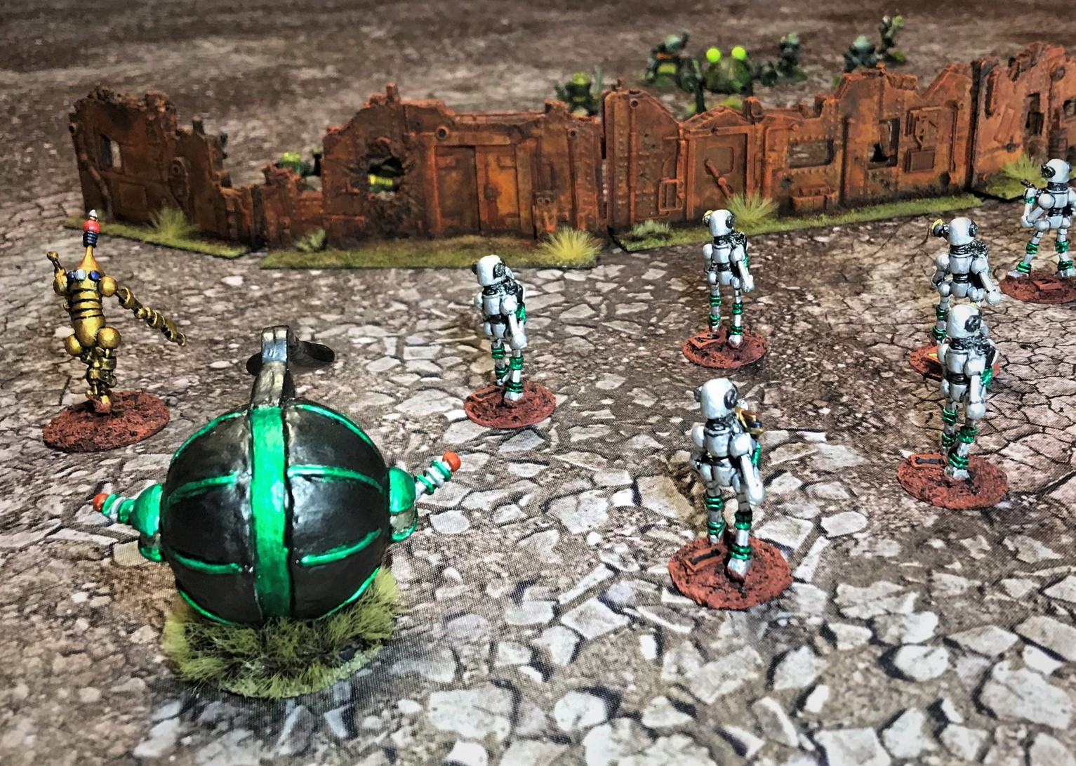 12 left wall view frogs behind walls v robots