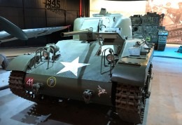 A Locust! This is an American-made glider-transported tank that only saw service in the Rhine River crossings with the British Army. Very rare!