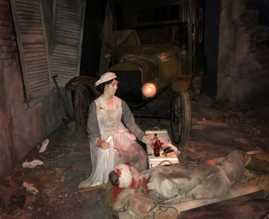 WWI Nurse attending wounded