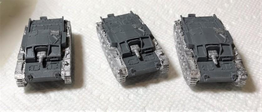 Assembled StuG IIIA.