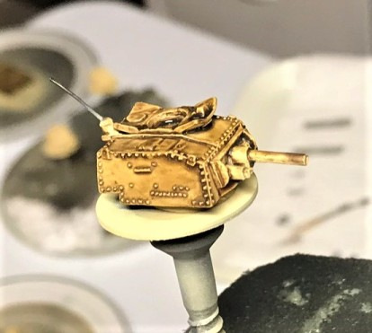 Turret close up after wash