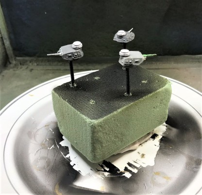 Mounted turrets for painting