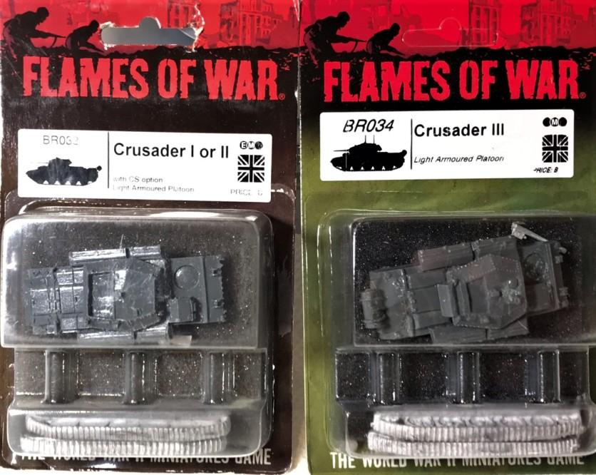 My two Crusaders in blister