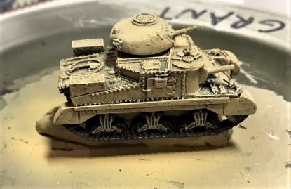 Assembled, base-coated, and dry brushed - needs camo and washes
