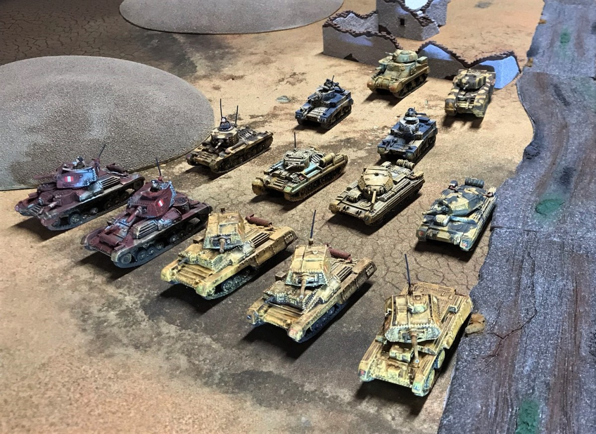 More 8th Army tanks – A10's, an A13, Valentines, Crusaders, a Grant and aChurchill!