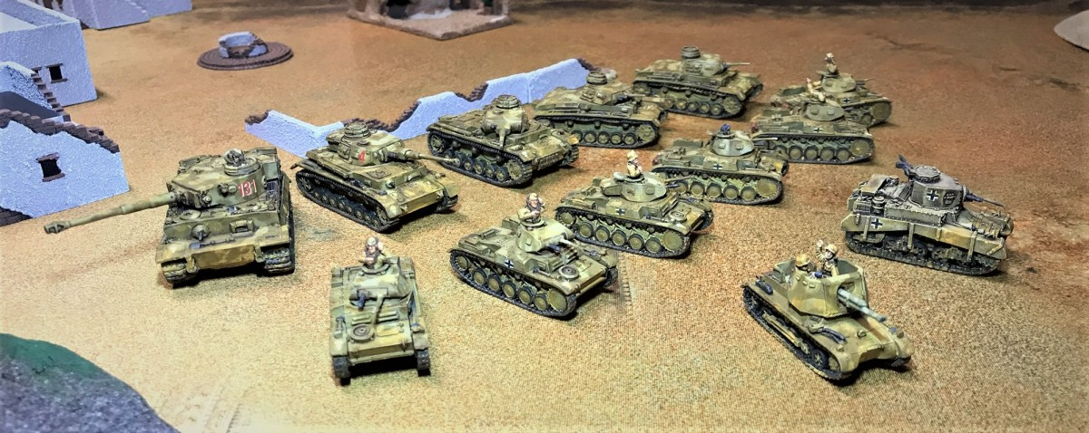 Building a Panzer Army Africa Tank force for What a Tanker