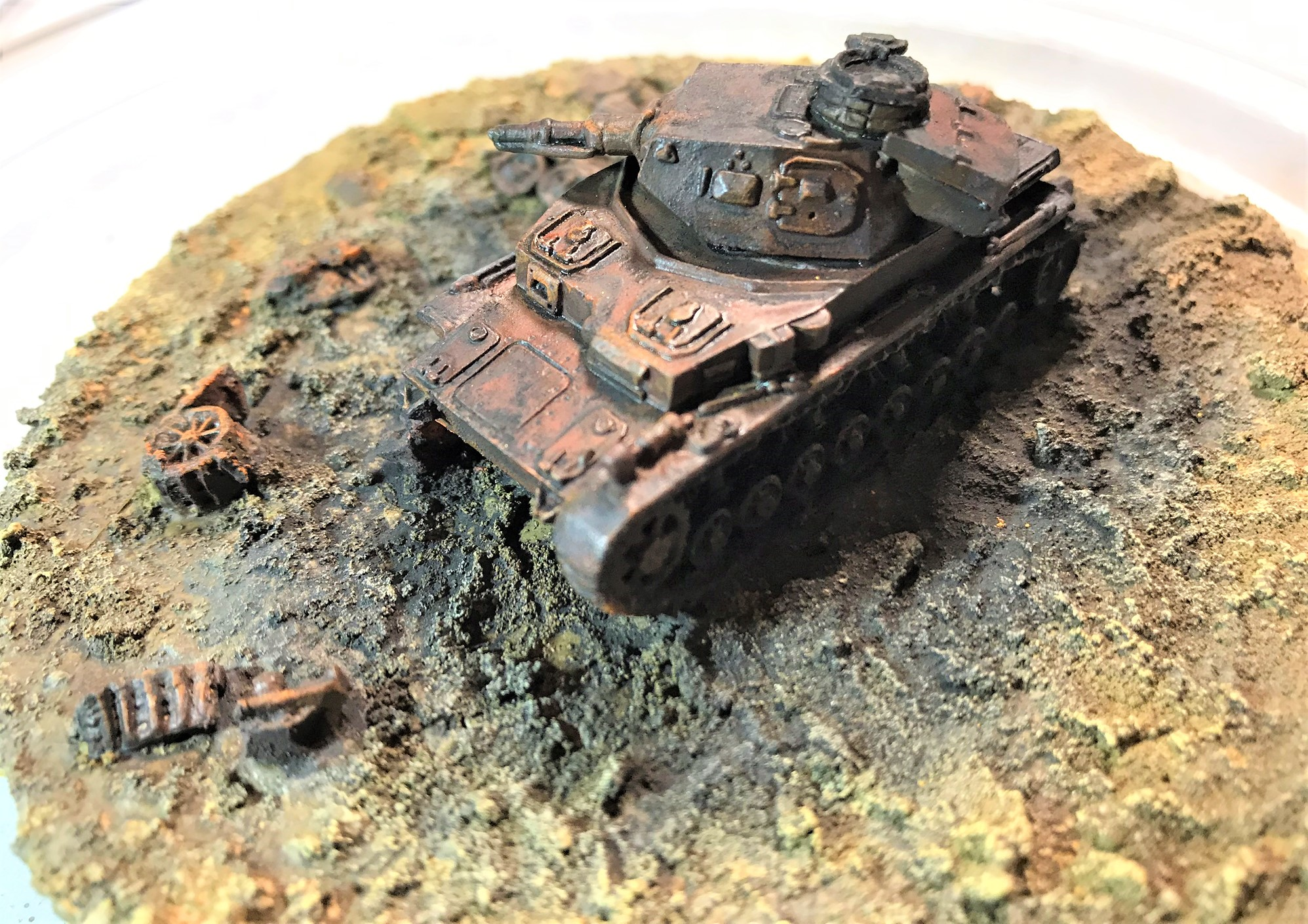 10 pigments and weathering and rust, left side