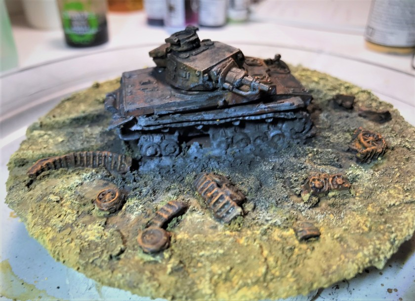 9 pigments and weathering and rust, impact side