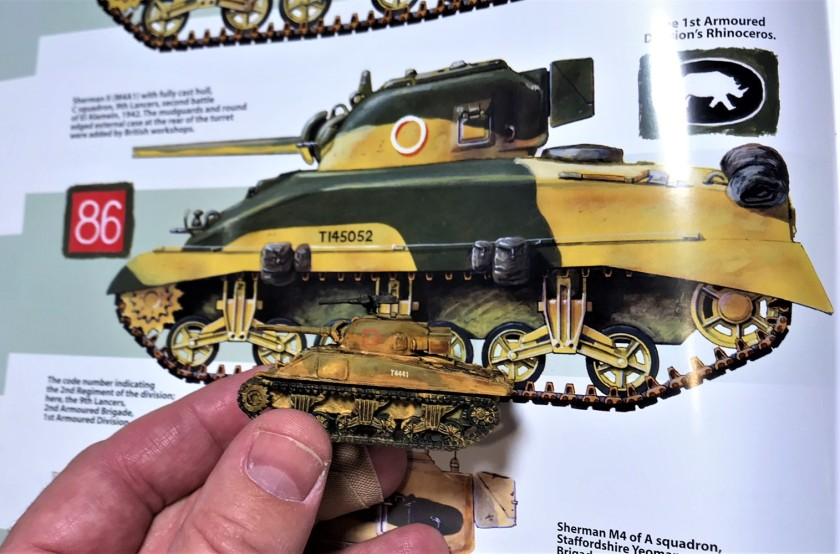 4 Sherman with model in book