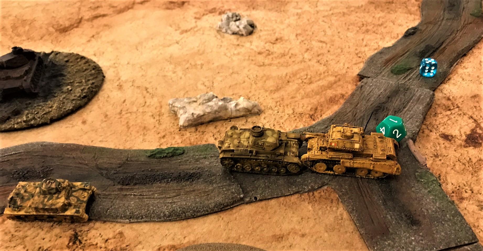 3 Panzer III rams A13